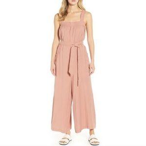 Lou & Grey blush sueded jumpsuit
